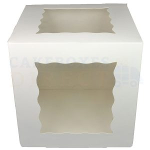 10x10x10in. Premium White Window Gateaux Box
