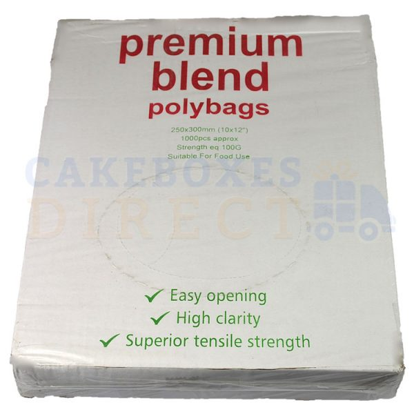 Excel Clear Food Bags 10 x 12 (100 gauge) (Qty 1000)