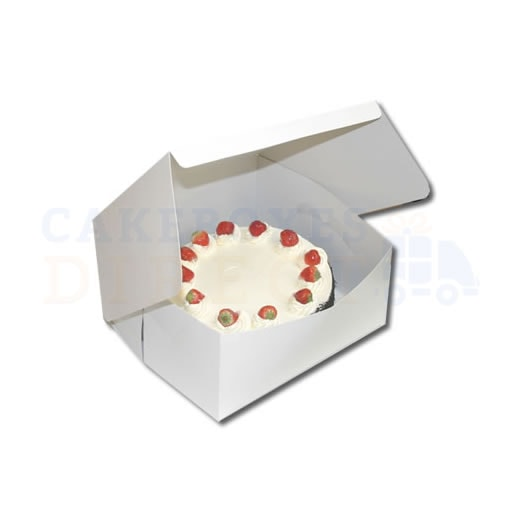 White Folding 1 Piece Box 12x12x6inches (Qty 50)
