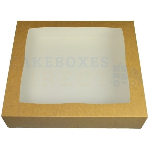 Premium Kraft Window Cake Box 12.75x11.5x3 in