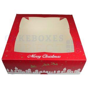 Premium Xmas Window Cake Box 11.25 x 11.25 x 4 in.
