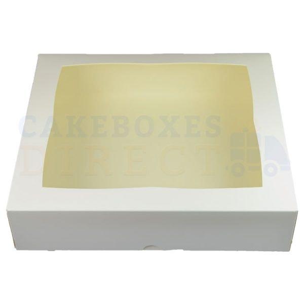 Premium White Ex Deep Window Cake Box 11.25 x 11.25 x 4 in.