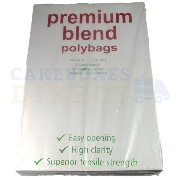 Excel Clear Food Bags 12x18 (200 gauge) (Qty 1000)