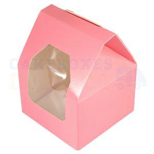 Premium Pink Window Cake Box  3.5x3.5x5 in (Qty 50)