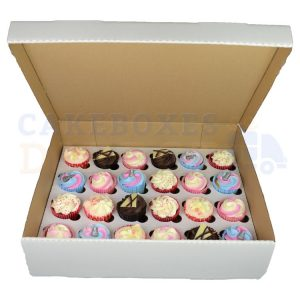 24 Cupcake Ex Deep (Corr) Box with 6cm Dividers