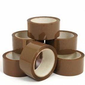 Brown Low Noise Tape 48 x 66 mm (6 Pack)