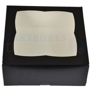 Premium Black Window Cake Box  7x7x3 in