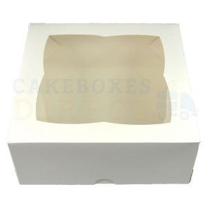 Premium White Window Cake Box 7x7x3 in.