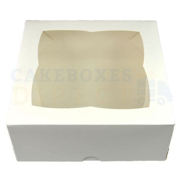 Premium White Window Cake Box 7x7x3 in.
