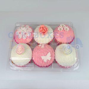 6 Cupcake Clear Plastic Pod (Qty 240)