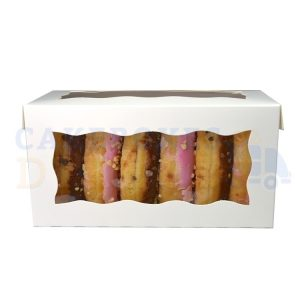 8x4x4in. White Doughnut Box