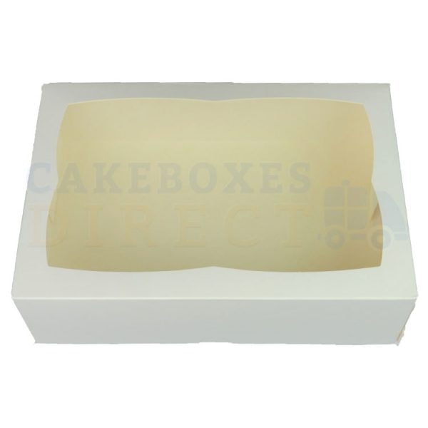 Premium White Window Cake Box 9.5 x 6.6 x 3 in.