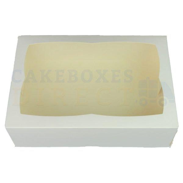 Premium White Window Cake Box 9.5 x 6.6 x 3 in.