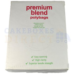 Excel Clear Food Bags 8 x 10 (100 gauge) (Qty 1000)