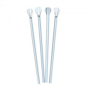 Straw Spoon Blue Striped 6mm (Qty 200)