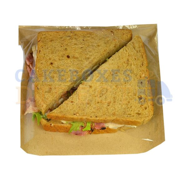 brown bag clear sandwich