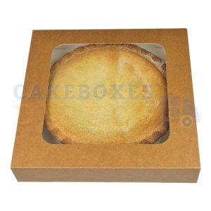 Brown Kraft Window Pie Box 8 x 8 x 1.5inches