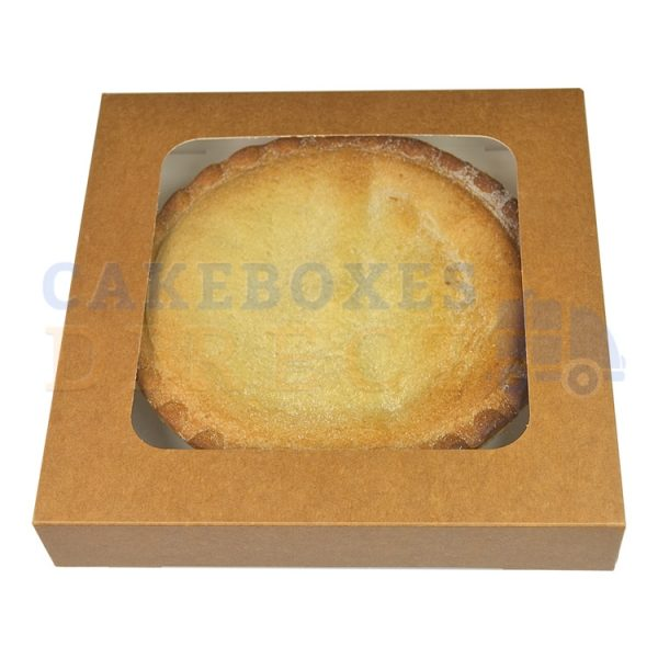 Brown Kraft Window Pie Box 8 x 8 x 1.5inches