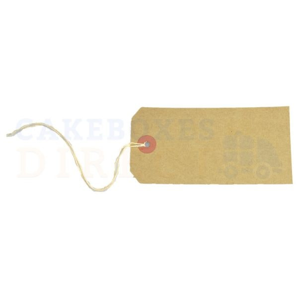 Tag Labels Strung Buff 120x60mm (Qty 1000)