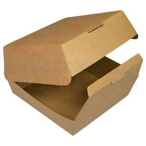 Bio Kraft Burger Box 117x117x75mm (Qty 600)