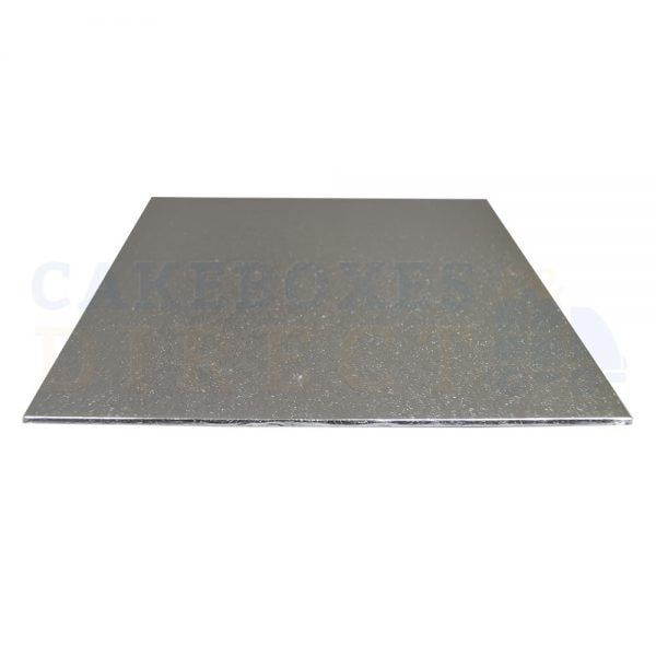 "8"" Silver Sqr Double Thick Cake Boards (Qty 10)"