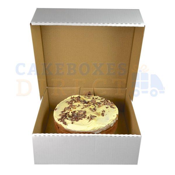 11.5 x 11.5 x 4 inches (corr) Large Gateaux Box