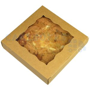 Individual Cookie Kraft Box. 4.5x4.5x1in. (Qty 250)
