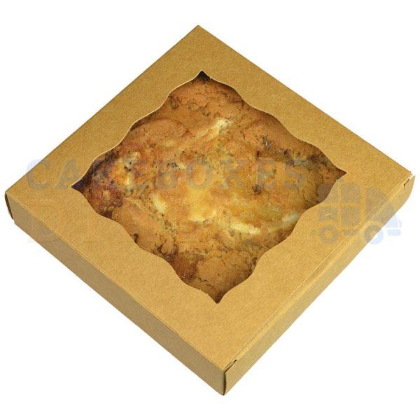 Individual Cookie Kraft Box. 4.5x4.5x1in. (Qty 250)