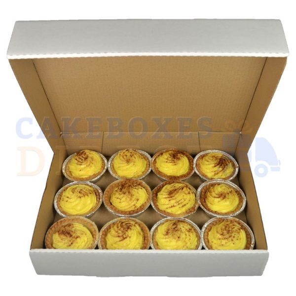 15.75 x 12 x 3 inches (corr) Custard Tart Box