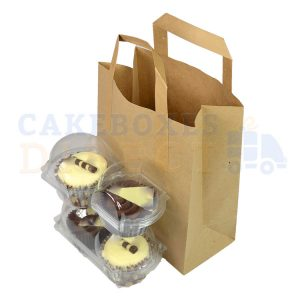 Paper Carrier Bags 216 x 114 x 254mm (approx) Medium Brown (Qty 250)