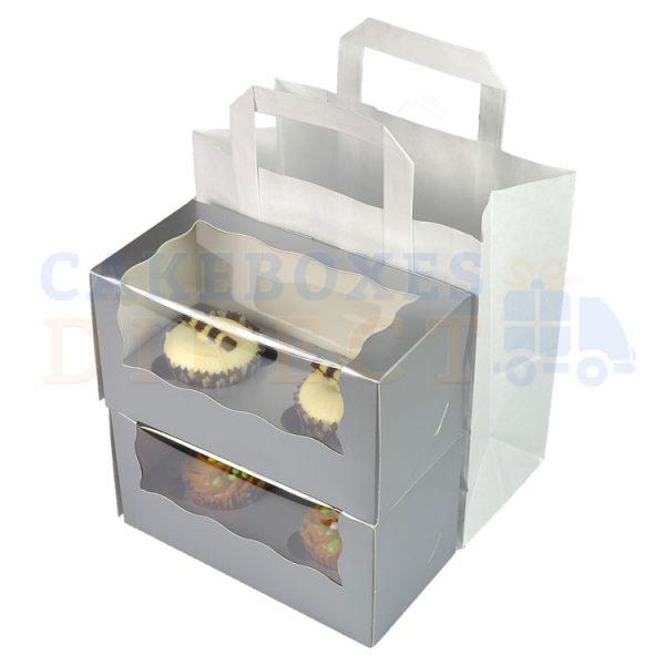 Paper Carrier Bag 216 x 114 x 254mm (approx) Medium White (Qty 250)