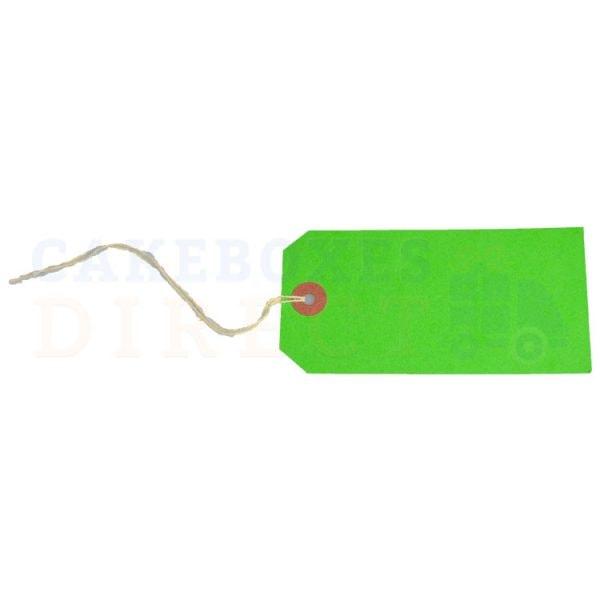 Tag Labels Strung Dark Green 120x60mm (Qty 1000)