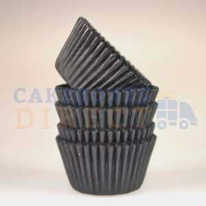 Black Mini Cupcake Cases 31 x 23mm (Qty 1000)
