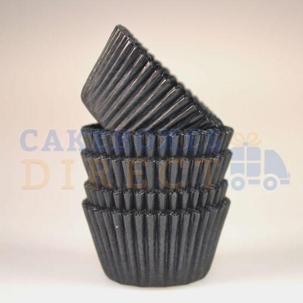 Black Mini Cupcake Cases 31 x 23mm (Qty 1000)