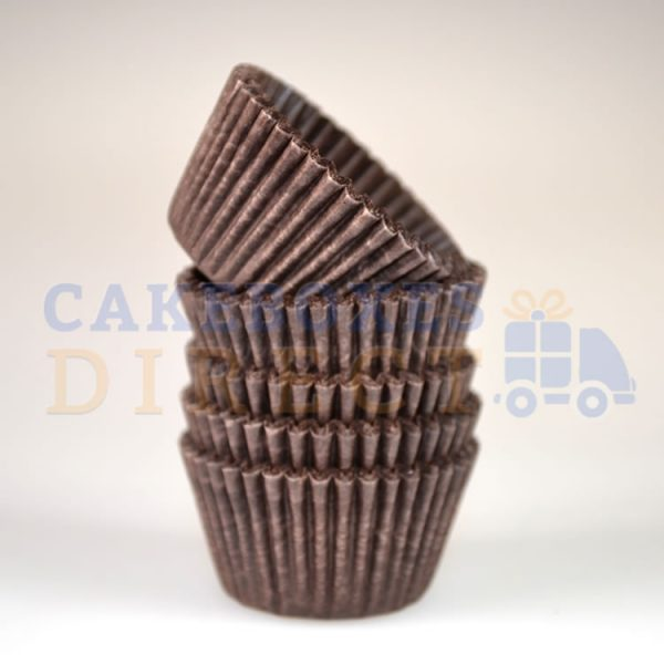 Brown Mini Cupcake Cases 31 x 23mm   (Qty 1000)