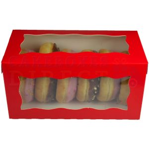 8x4x4in. Red Doughnut Box
