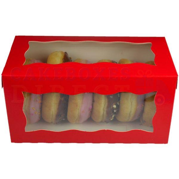 8x4x4in. Red Doughnut Box
