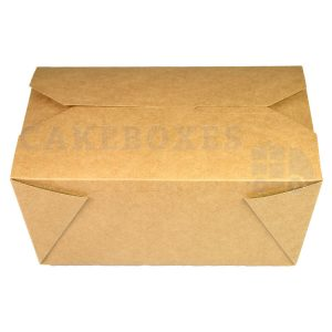Leakproof Container NO 4 Kraft (140x195x90mm) (Qty 125)