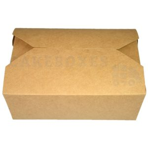 Leakproof Container NO 5 Kraft (121x152x51mm) (Qty 150)