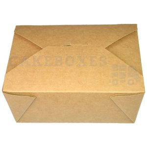 Leakproof Container NO 8 Kraft (120x152x64mm) (Qty 300)
