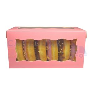 8x4x4in. Pink Doughnut Box