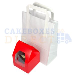 Paper Carrier Bags 178 x 88 x 228mm (approx) Small White (Qty 500)