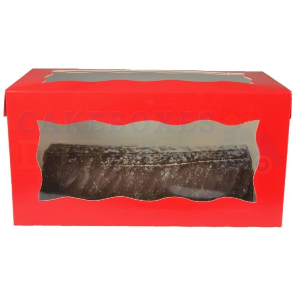 Red Yule Log Box