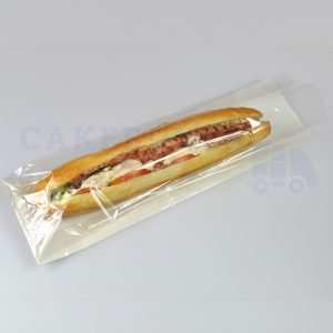 White Film Fronted Baguette Bags 4 x 6 x 14 in (Qty 1000)