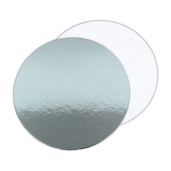 """10"""" Silver Rnd Single Thick Cake Boards (Qty 100)"""