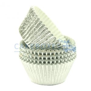 Silver Foil Cupcake Cases (Qty 1000)
