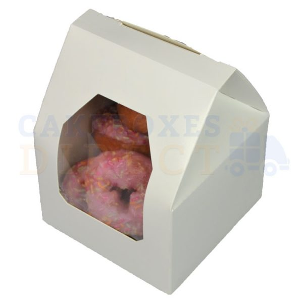 Premium White Window Cake Box 3.5 x 3.5 x 5 in