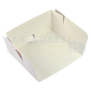 3 Sided Swedish Small White Tray. 5 x 4.5 x 2.5in. (Qty 500)