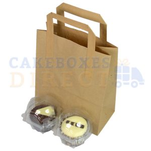 Paper Carrier Bags 178 x 88 x 228mm (approx) Small Brown (Qty 500)