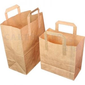 Paper Carrier Bags 254 x 140 x 305mm (approx) Large Brown (Qty 250)